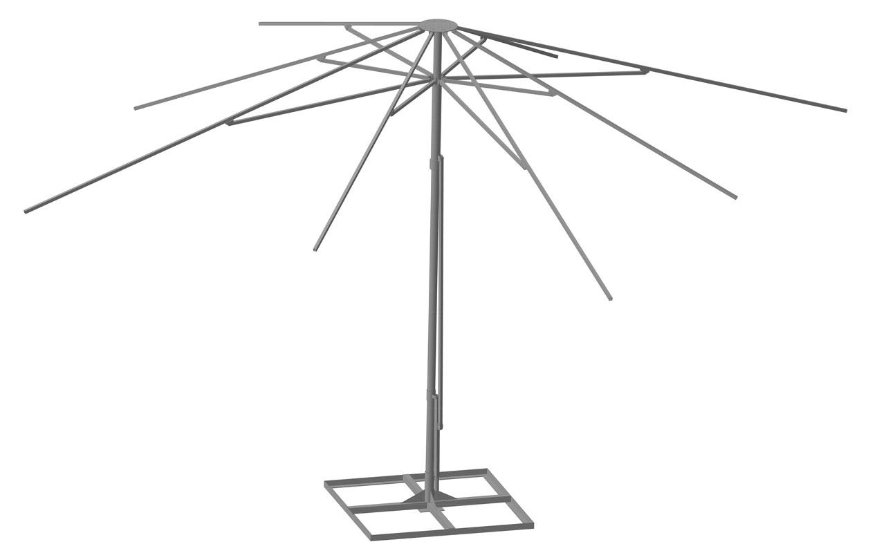 Зонт металлический своими руками
